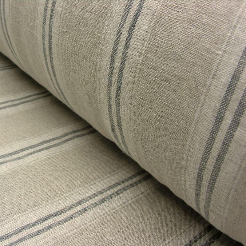 Washed Linen Stripe Oland Grey