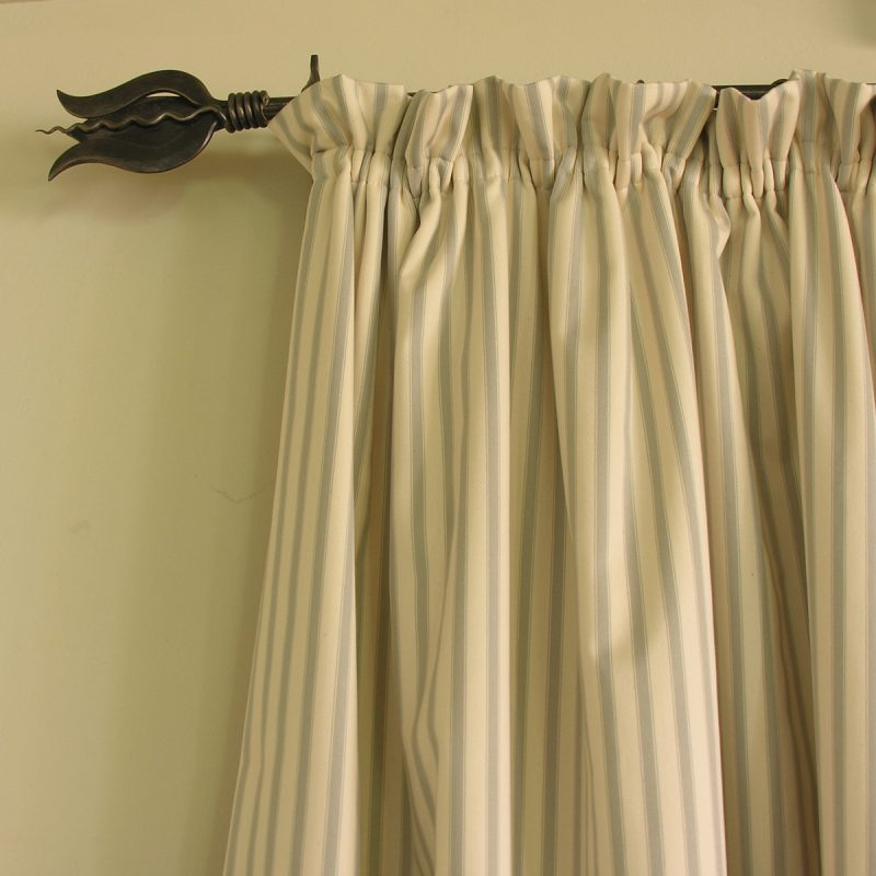 Large ticking curtain