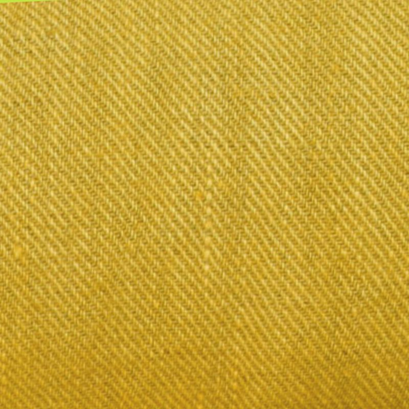 Hnad dyed Linen Twill Yellow
