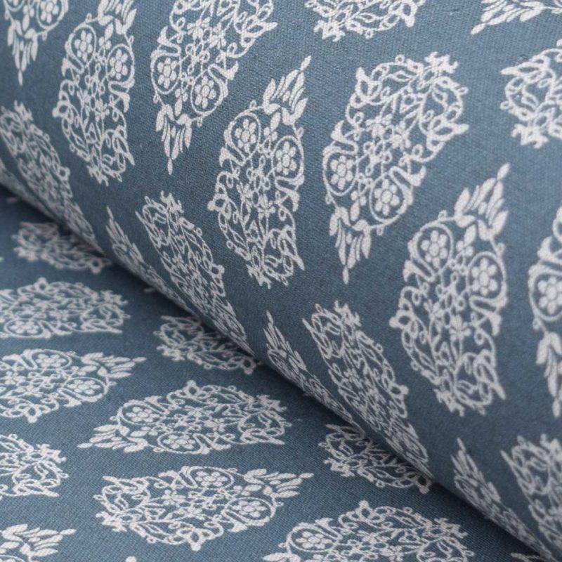 Izmir Fabric Blue Steel