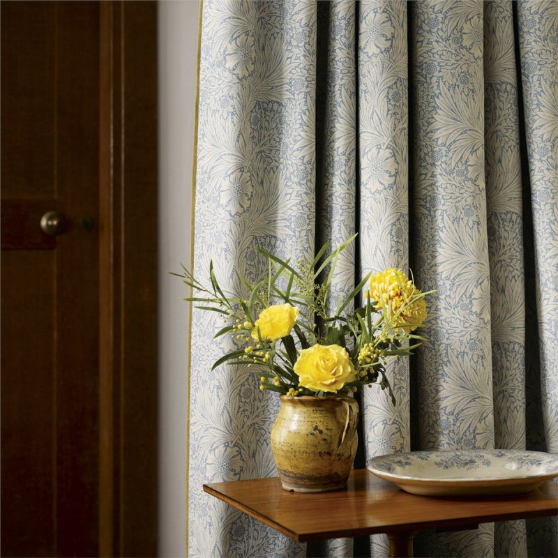 Morris Marigold Curtain China Blue