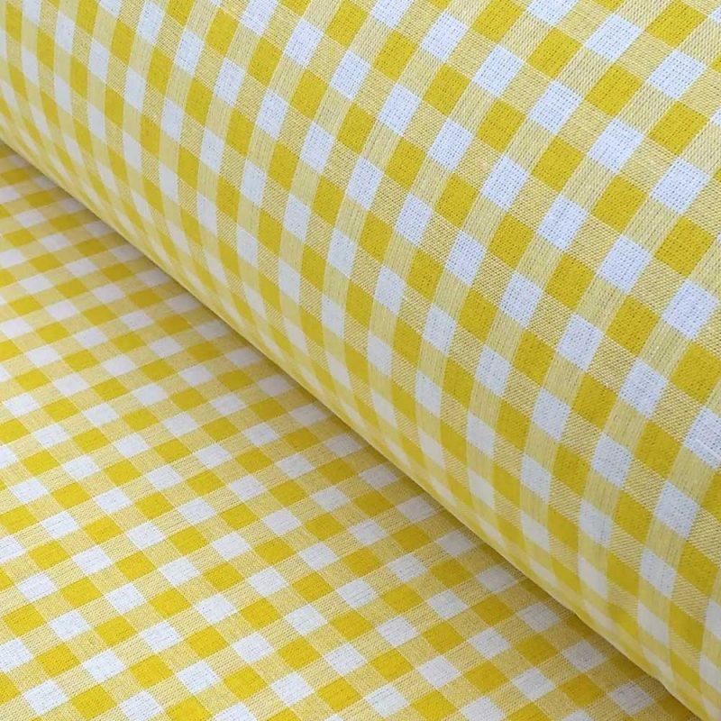 Picnic Check Canary Yellow