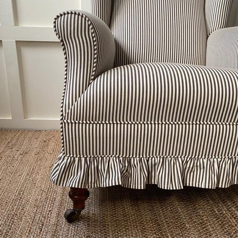 Ticking Fabric Chair