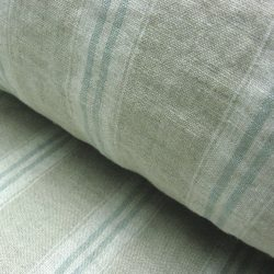 Washed Linen Oland Stripe Seagreen