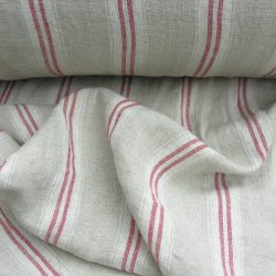 Washed Linen Oland Red