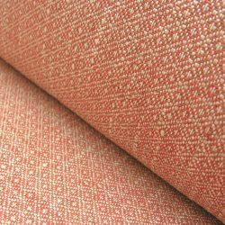 Upholstery Fabric Checker Poppy