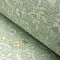 Chorus Cotton Curtain Fabric Duckegg