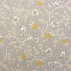 Chorus Cotton Curtain Fabric Grey