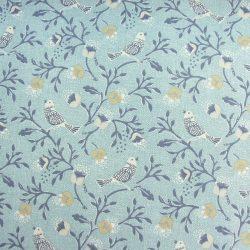 Chorus Cotton Curtain Fabric Blue