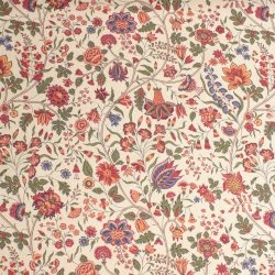 Cotton Curtain Fabric Mansur - Olive and Ruby