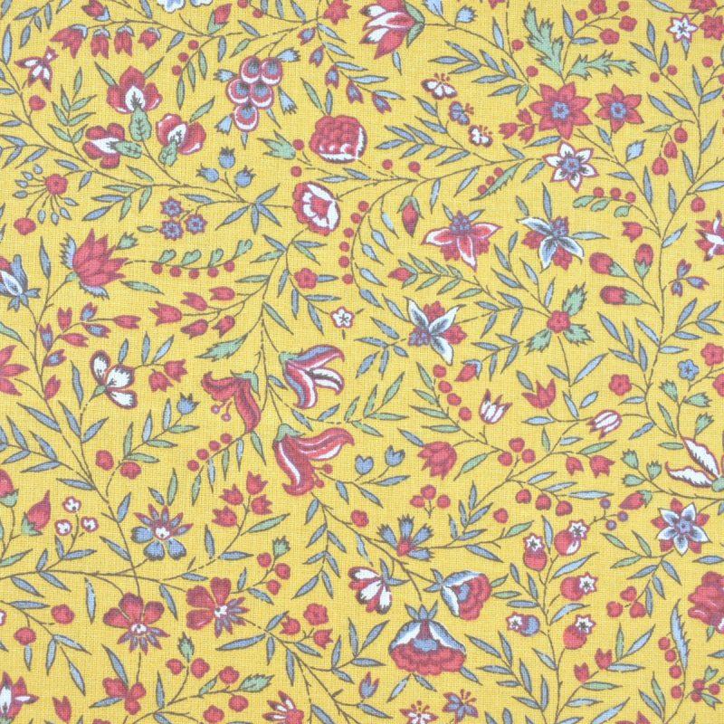 cotton print frejus yellow