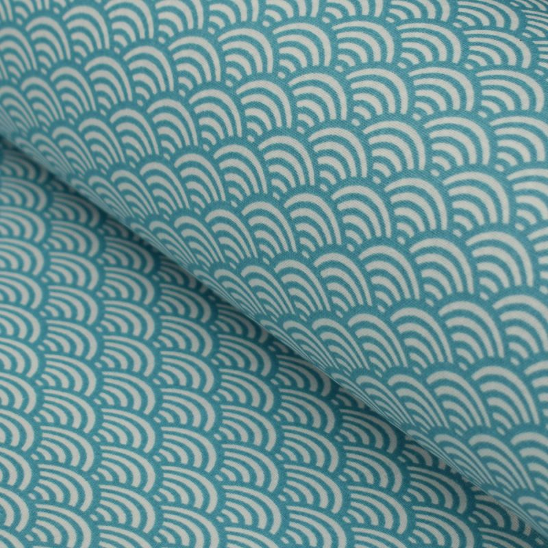 oilcloth fans turquoise