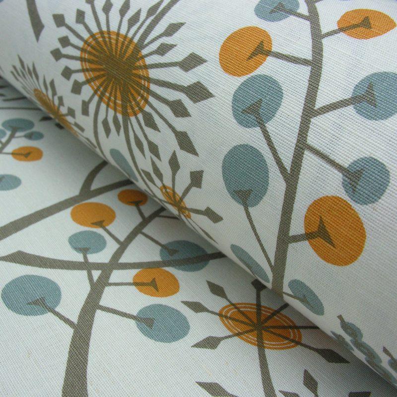 Angie Lewin Hedgerow Orange Blue