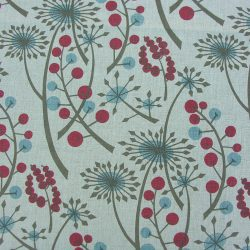 Angie Lewin Hedgerow Linen Cherry & Blue