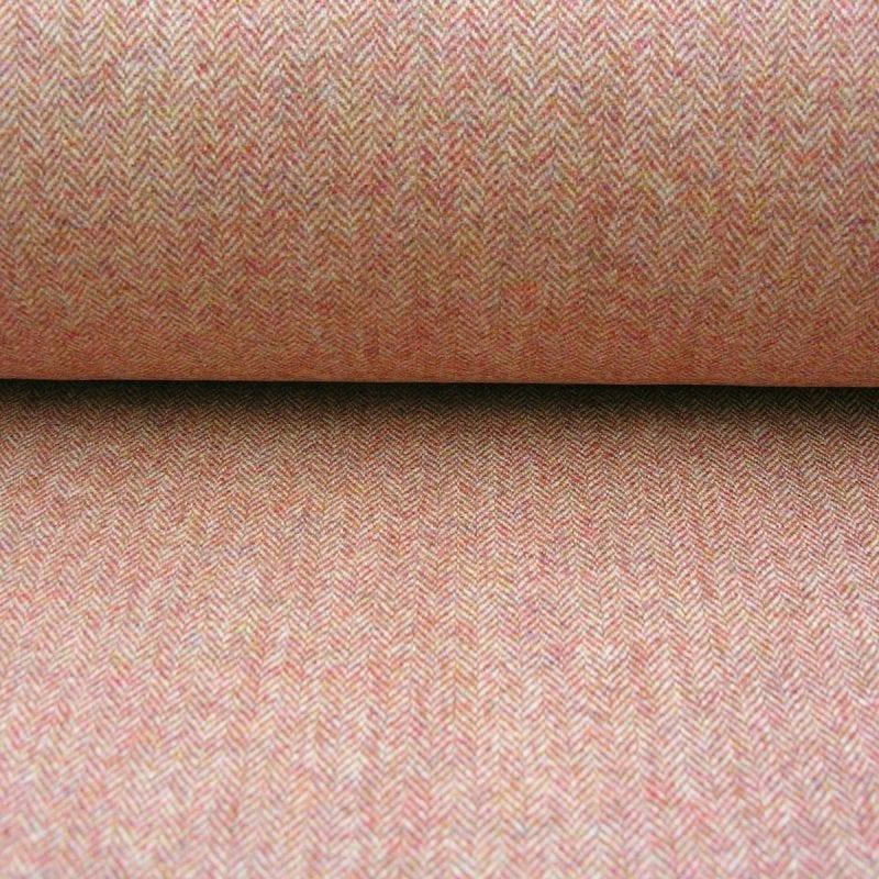 Wool Herringbone Blood Orange
