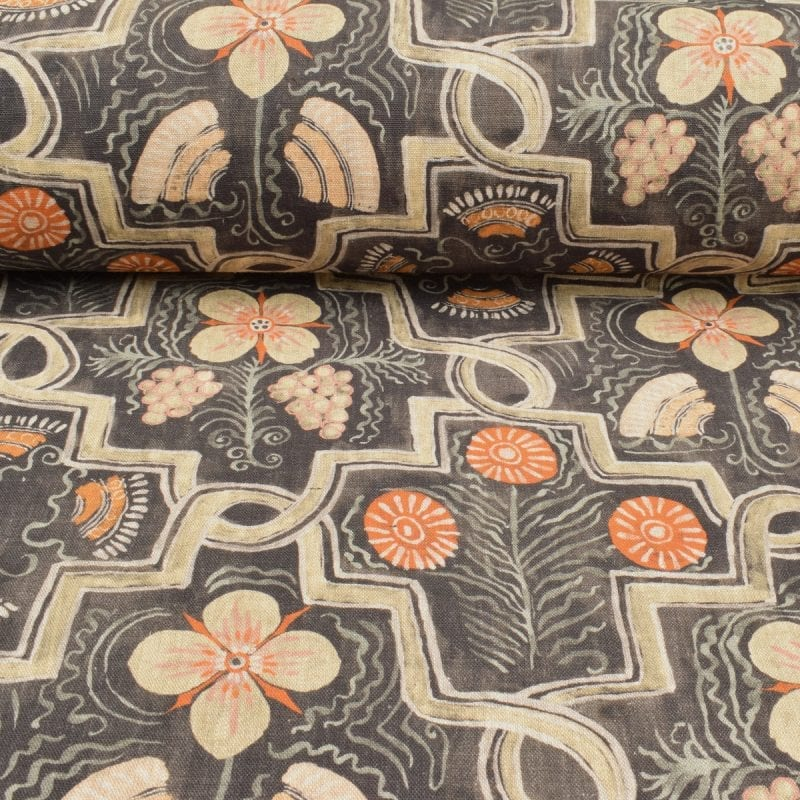 Ledbury Elizabethan Linen Print - Small