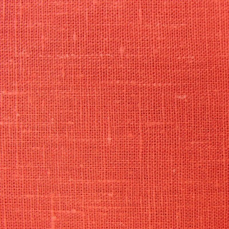 Textured Linen Coral