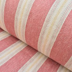 Dewsall Linen Stripe Strawberry
