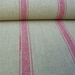 Linen stripe Nordic Angus Peony