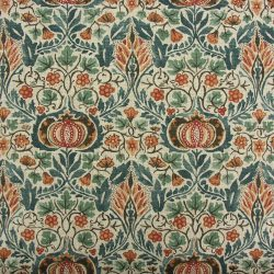 William Morris Little Chintz Teal and Saffron