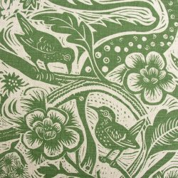 Mark Hearld - Linen Union Fabric, Wren; Forest