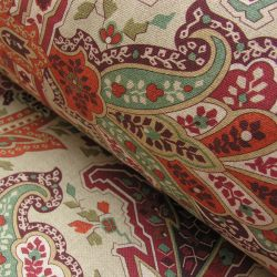 Extra Wide Curtain Fabric - Mogul Warm Terracotta