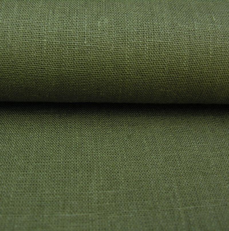 Textured Linen Bottle Green