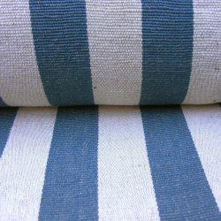 Jute Table Runner Fabric Plain Navy Stripe