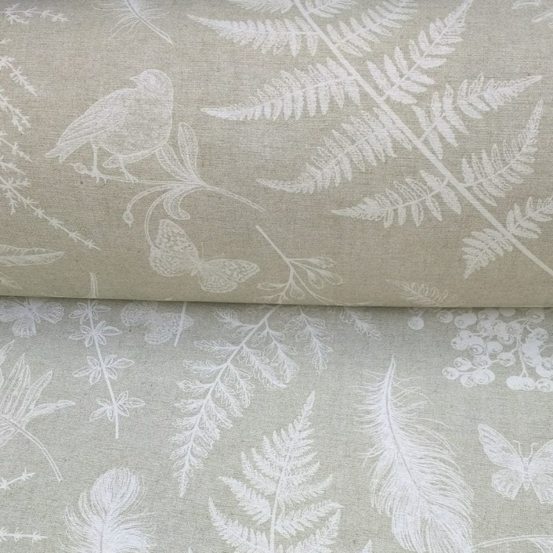 Oilcloth Fern and Feather