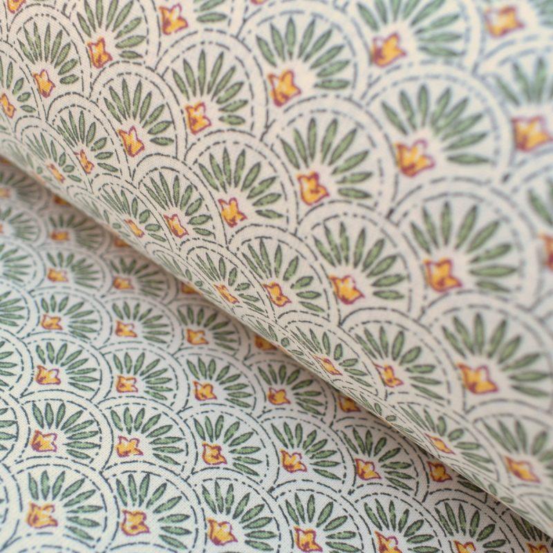 cotton print scallop