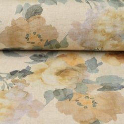 Extra Wide Floral Fabric - Rosa Apricot