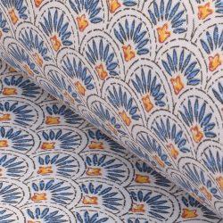 oilcloth scallop indigo