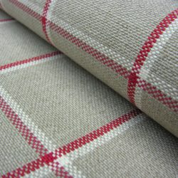 Skye Check Peony linen natural fabric tinsmiths checks
