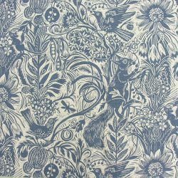 Mark Hearld Squirrel and Sunflower - Indigo