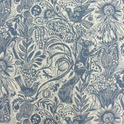 Mark Hearld Squirrel and Sunflower - Indigo