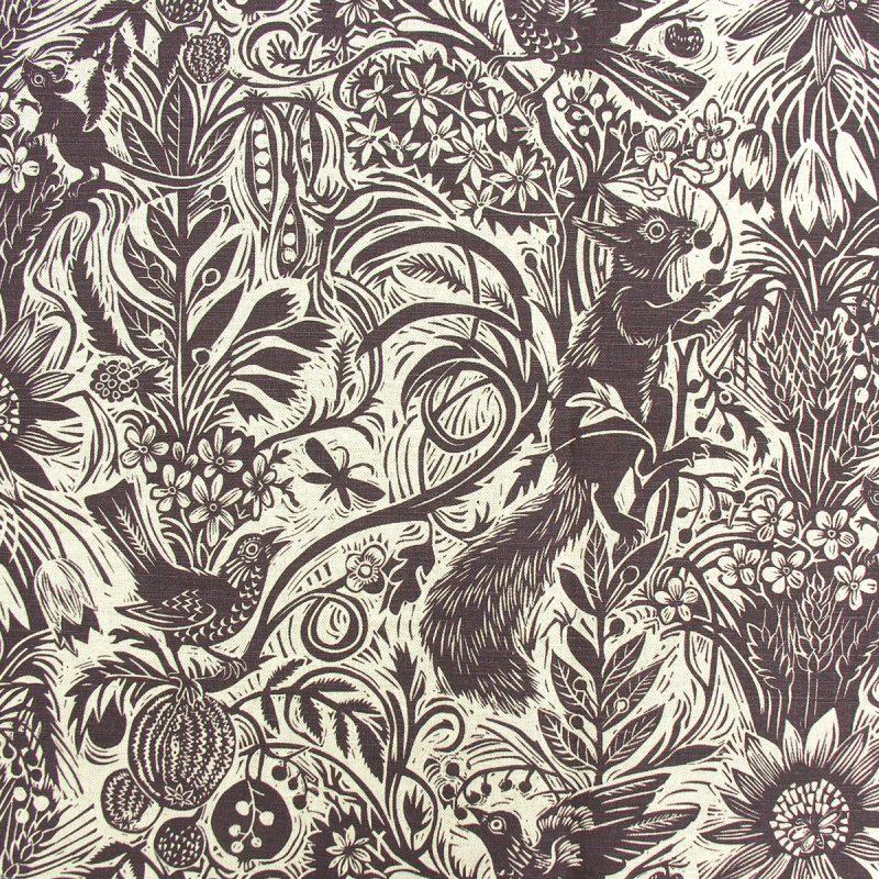 Mark Hearld Squirrel and Sunflower Aubergine