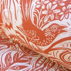 Mark Hearld Squirrel and Sunflower Brick Red