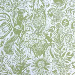 Mark Hearld Squirrel and Sunflower Olive Green