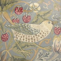 Strawberry Thief Oilcloth - Blue/Grey