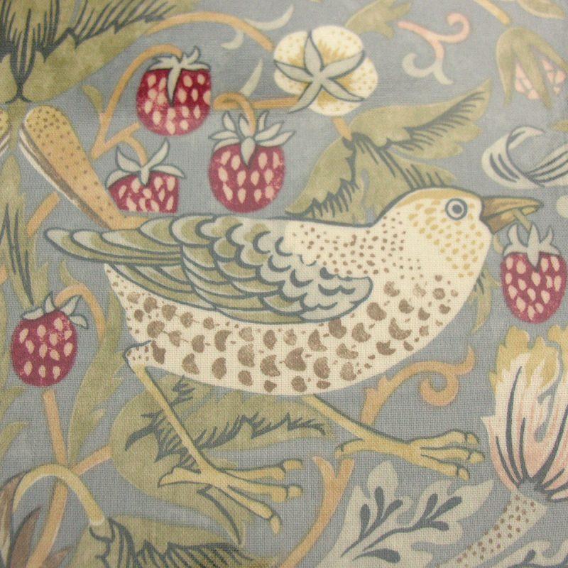 Strawberry Thief Oilcloth - Blue/Grey