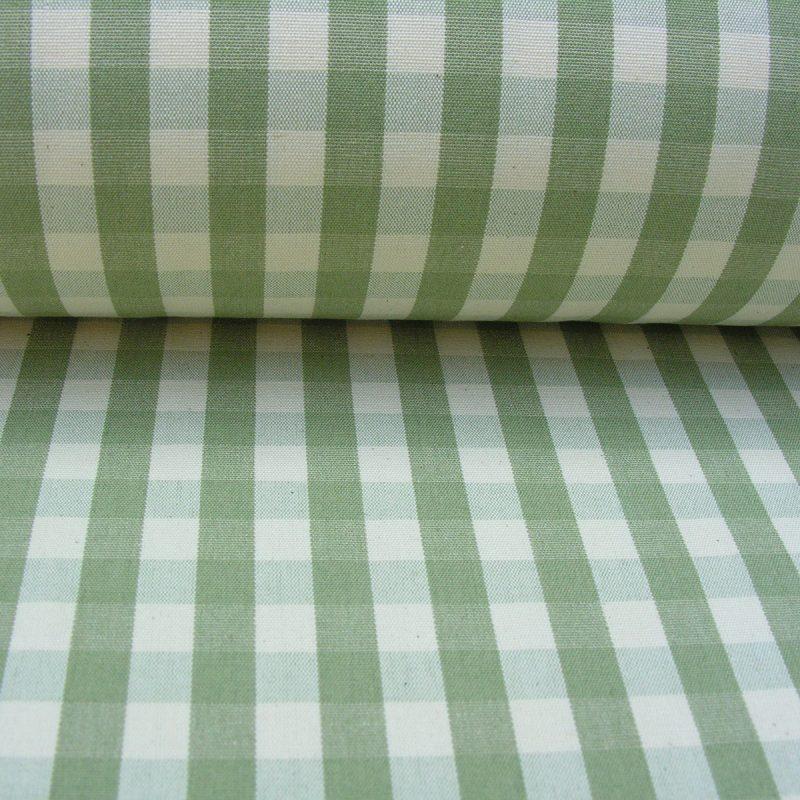 small check sage tinsmiths natural fabric checked