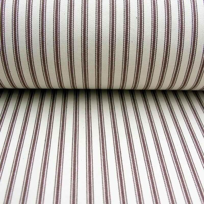 Ticking Fabric Brown