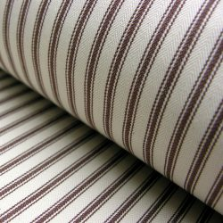 Ticking Fabric Brown
