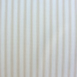 Ticking Fabric Cream