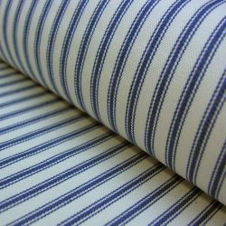 Ticking Fabric Navy