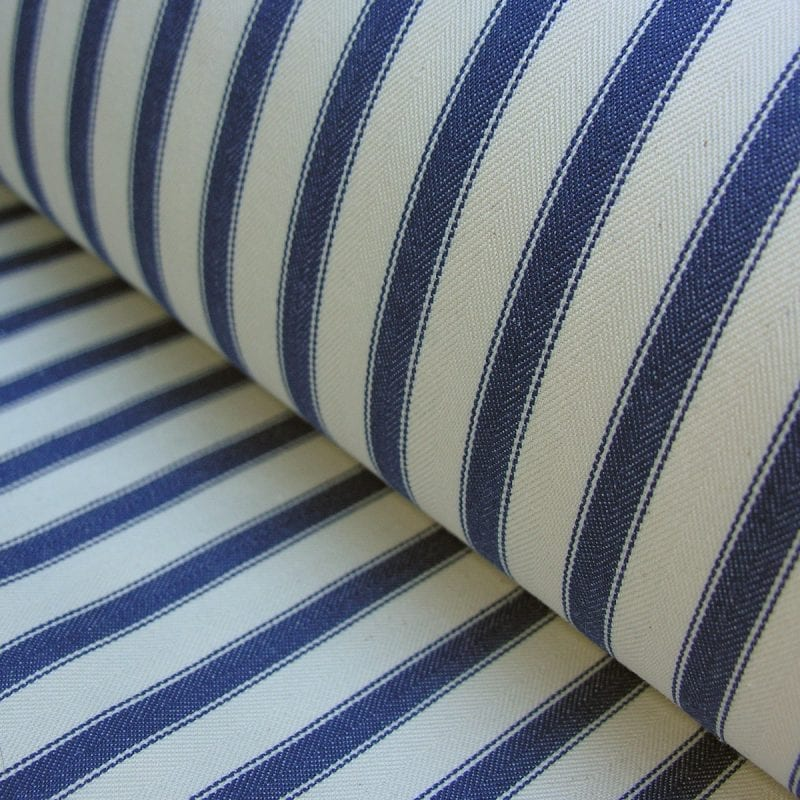 Ticking Fabric Large Navy Blue