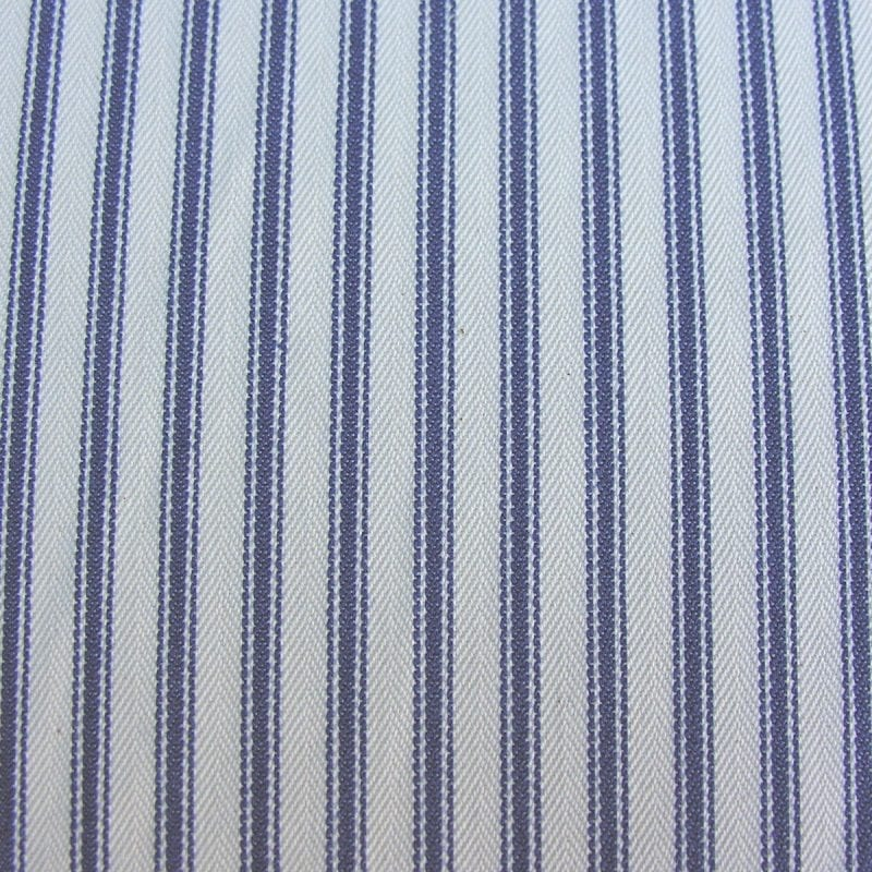 Ticking Fabric Navy