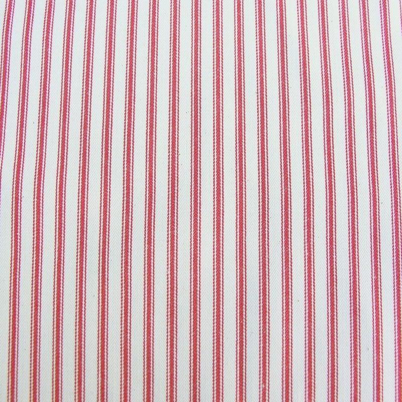 Ticking Fabric Peony