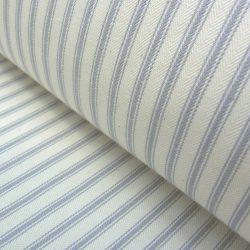 Ticking Fabric Silver Grey