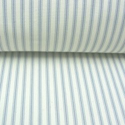 ticking fabric silver